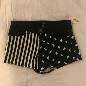 American Flag Forever 21 Shorts (Size 277